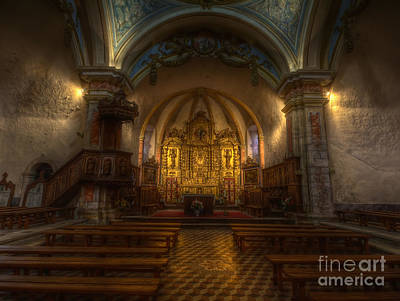 Baroque Church In Savoire France Art Print by Clare Bambers
