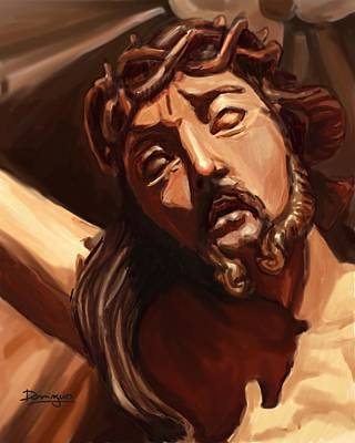 Immaculate Mixed Media - Baroque Jesus by Mario Domingues