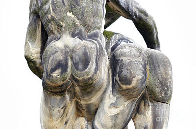 Baroque Statue - Detail - Backside Art Print by Michal Boubin