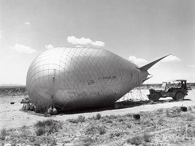 A-bomb Photograph - Barrage Balloons Used At Trinity Test by Los Alamos National Laboratory