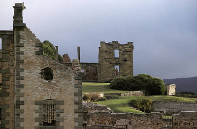 Barred Windows And Stone Ruins At Port Print by Jason Edwards