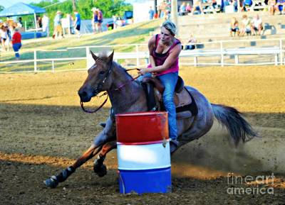 Photograph - Barrel Racer Rodeo by Peggy Franz