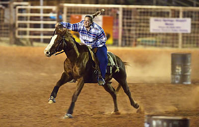 Photograph - Barrel Racing by Paul Svensen
