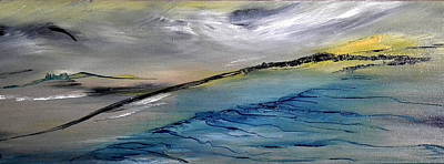 Painting - Barren Landscape by David Hatton
