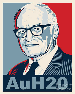 Libertarian Party Drawing - Barry Goldwater by John L