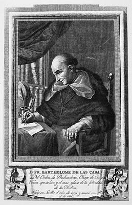 Clergy Photograph - Bartolome De Las Casas by Granger