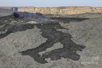 Basaltic Lava Flow From Pit Crater Art Print by Richard Roscoe