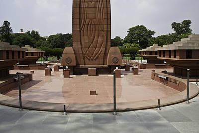 Art Print featuring the photograph Base Of The Jallianwala Bagh Memorial In Amritsar by Ashish Agarwal