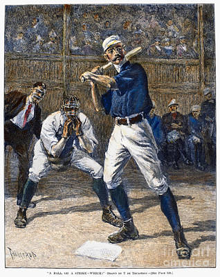 Photograph - Baseball, 1888 by Granger