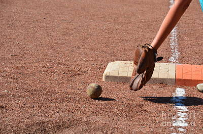 Photograph - baseball and Glove by Randy J Heath