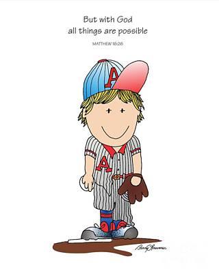 Baseball Print by Barry Louwerse