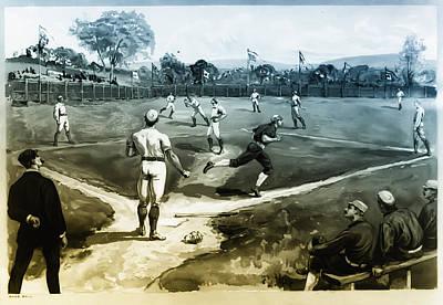 Baseball Art Print by Bill Cannon