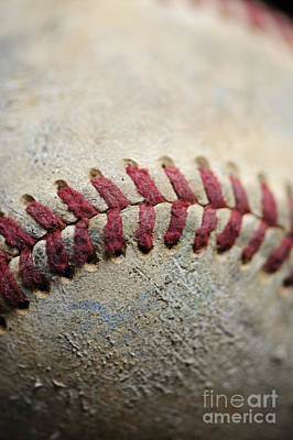 Photograph - Baseball Close 1 by Nancy Greenland