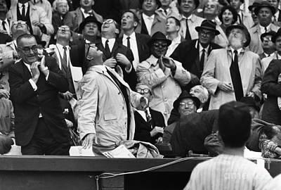 Lyndon Photograph - Baseball Crowd, 1962 by Granger