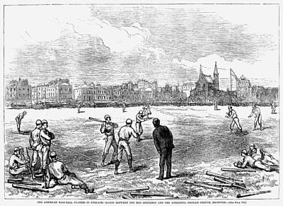 Baseball: England, 1874 Art Print by Granger