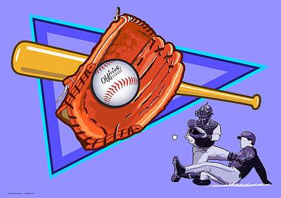 Baseball Print by Erasmo Hernandez