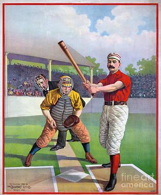 Baseball Game, C1895 Art Print by Granger
