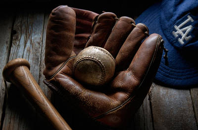 Feild Photograph - Baseball Glove by Bob Nardi