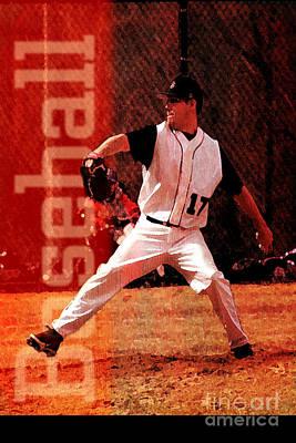 Baseball Players Mixed Media - Baseball by John Turek