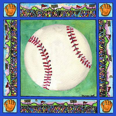 Painting - Baseball by Pamela  Corwin