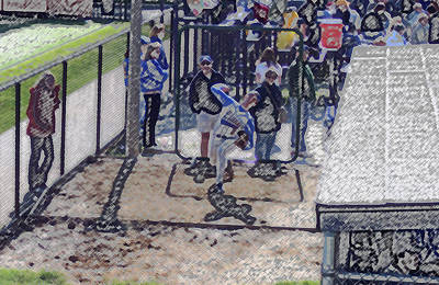 Baseball Pitcher Warming Up Digital Art Art Print by Thomas Woolworth