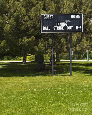 Baseball Scoreboard Art Print by Thom Gourley/Flatbread Images, LLC