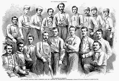 Baseball Teams, 1866 Art Print by Granger