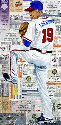 Baseball Tickets Print by Michael Lee