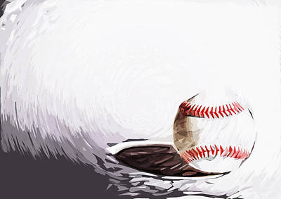 Baseball Art Print by Tilly Williams