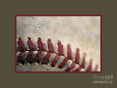 Photograph - Baseball Up Close by Nancy Greenland