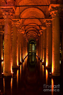 Art Print featuring the photograph Basilica Cistern by Leslie Leda