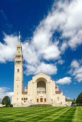 Basilica Of The National Shrine Of The Immaculate Conception Art Print by Dan Wells