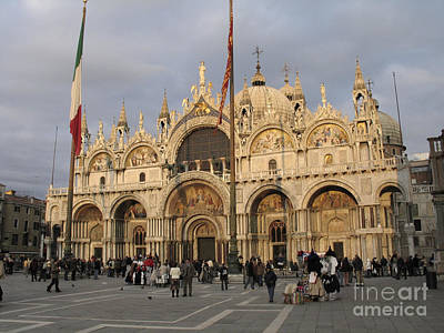 Basilica San Marco Art Print by Bernard Jaubert