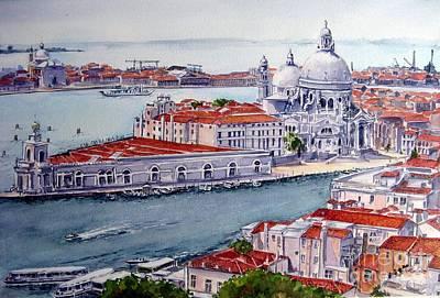 Painting - Basillica Di Santa Maria Della Salute by Ronald Tseng