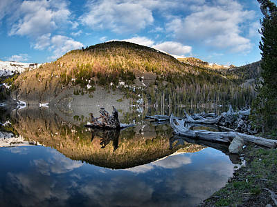 Photograph - Basin Lake Sunrise by Leland D Howard