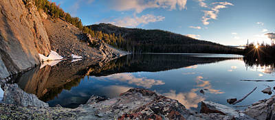 Photograph - Basin Lake Sunrise Panoramic by Leland D Howard