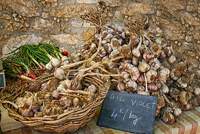 Photograph - Basket Of Garlic by Sandra Anderson