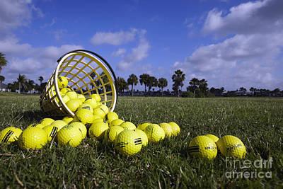 Basket Of Golf Balls Art Print by Skip Nall