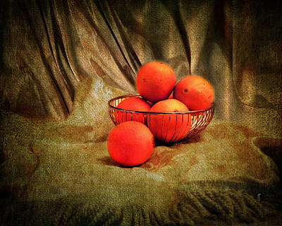 Photograph - Basket Of Oranges by Jai Johnson