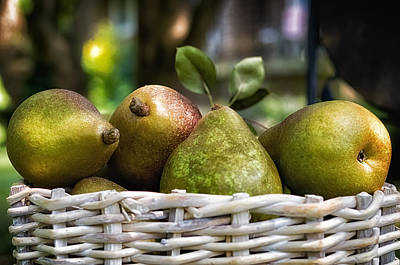 Photograph - Basket Of Pears by Lori Coleman