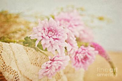 Basket Of Vintage Floral Goodness Art Print
