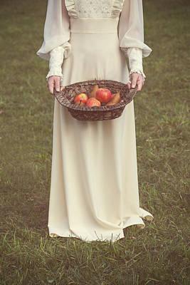 Pear Photograph - Basket With Fruits by Joana Kruse