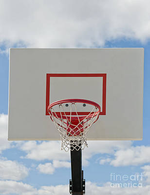 Basketball Backboard With Hoop And Net Art Print by Thom Gourley/Flatbread Images, LLC