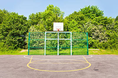 Basketball Court Art Print by Tom Gowanlock