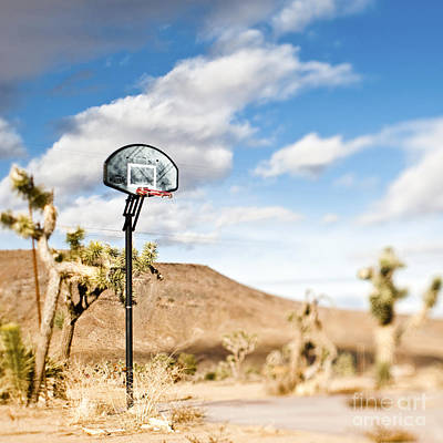 Pioneertown Photograph - Basketball Hoop by Eddy Joaquim