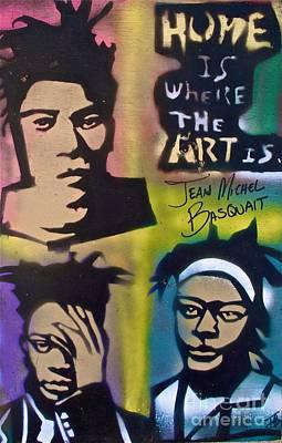 Basquait Squared Art Print by Tony B Conscious