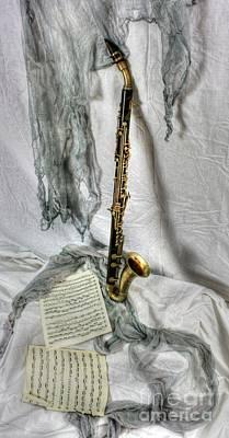Bass Clarinet Art Print by Dan Stone