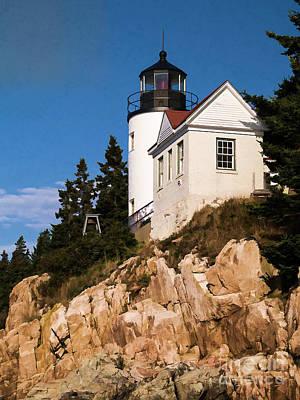 Bass Harbor Light Acadia National Park Maine Art Print by Edward Fielding