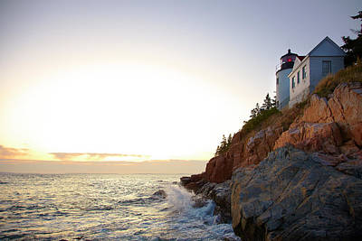 Bass Harbor Light, Low Angle View Art Print by Thomas Northcut