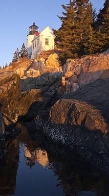 Photograph - Bass Harbor Lighthouse Sunrise Acadia National Park by Glenn Gordon